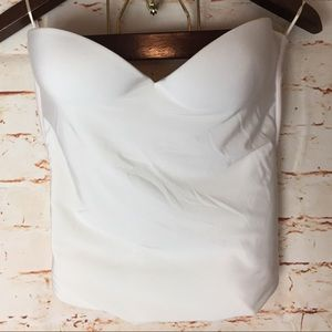 {David's bridal} corset bra, white, 38C